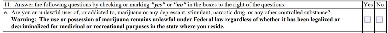 question 11.e. atf form 4473